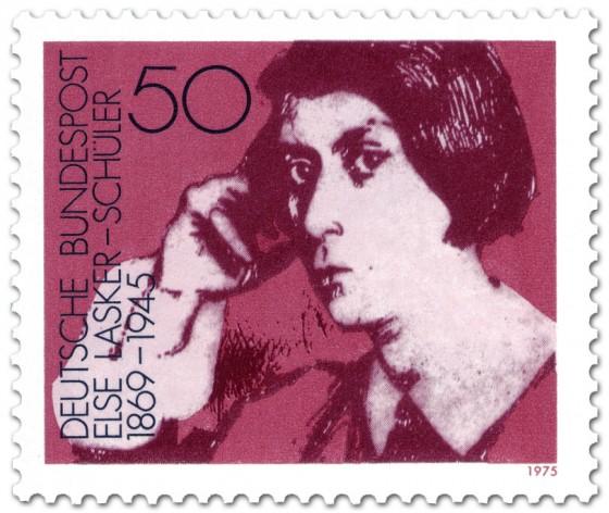 Briefmarke: Else Lasker-Schüler (Dichterin)