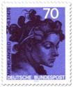 Briefmarke: Frau, Skulptur von Michelangelo