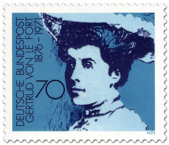 Briefmarke: Gertrud von Le Fort (Schriftstellerin)