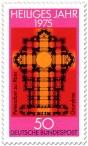 Briefmarke: Grundriss Petersdom Rom (Heiliges Jahr 1975)