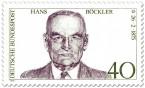 Briefmarke: Hans Böckler (Politiker)