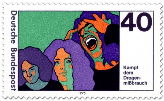 Briefmarke: Kampf dem Drogenmissbrauch