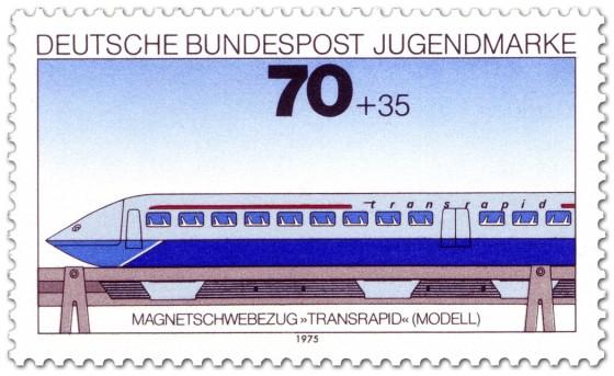 Briefmarke: Magnetschwebebahn Transrapid