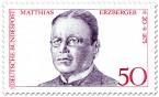 Briefmarke: Matthias Erzberger (Politiker und Schriftsteller)