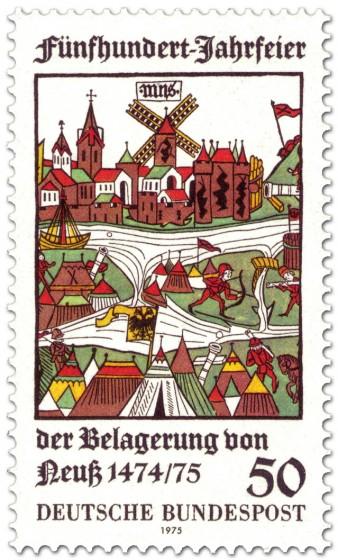 Briefmarke: Mittelalterliche Belagerung von Neuss