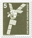 Briefmarke: Nachrichtensatellit Symphonie