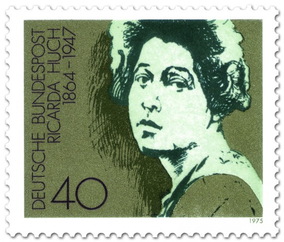 Briefmarke: Ricarda Huch (Dichterin)
