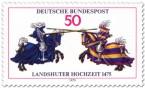 Briefmarke: Ritter mit Lanzen (Landshuter Hochzeit)