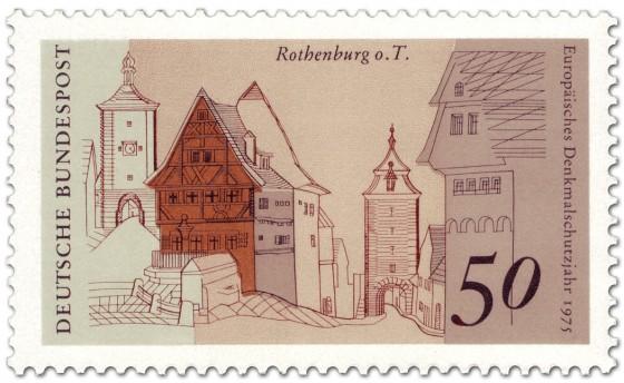 Briefmarke: Rothemburg ob der Tauber (Siebersturm, Plönlein)