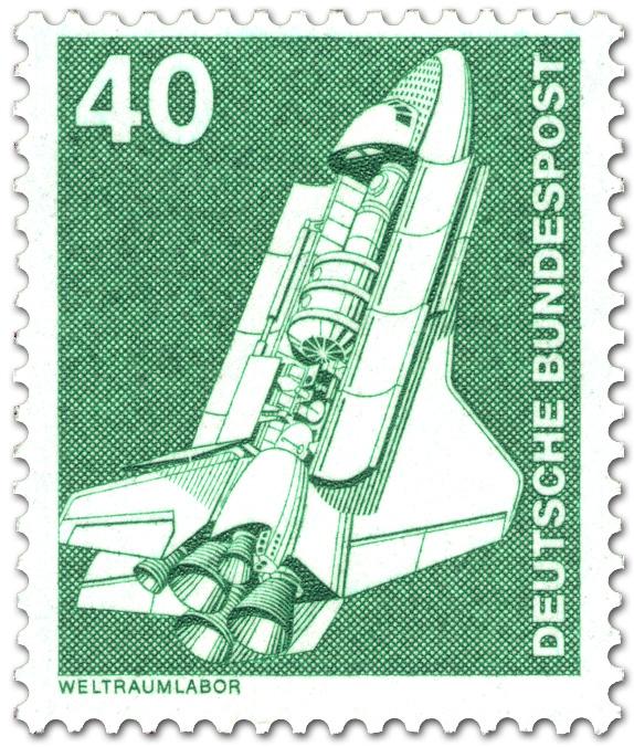 Space Shuttle Weltraumlabor Briefmarke 1975