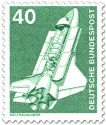 Briefmarke: Space-Shuttle, Weltraumlabor