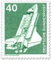 Briefmarke: Space-Shuttle, Weltraumlabor