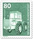 Briefmarke: Traktor