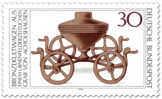 Briefmarke: Kultwagen aus Bronze (aus Acholshausen)