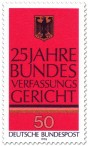 Briefmarke: 25 Jahre Bundesverfassungsgericht (Bundesadler)
