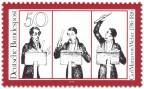 Briefmarke: Carl Maria Von Weber (Komponist, Karikatur)