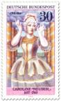 Briefmarke: Caroline Neuber (Schauspielerin) als Medea