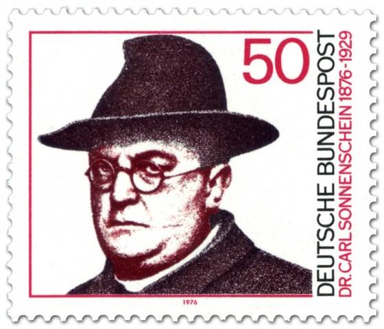 Briefmarke: Dr. Carl Sonnenschein (mit Hut)