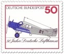 Briefmarke: Flugzeug Junkers F13 (50 Jahre Lufthansa)