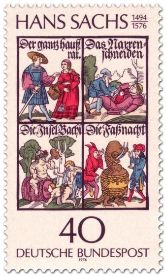 Briefmarke: Hans Sachs (Dichter)