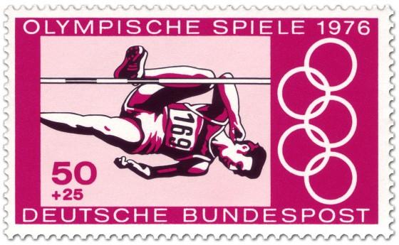 Briefmarke: Hochsprung der Männer (Olympia 1976)