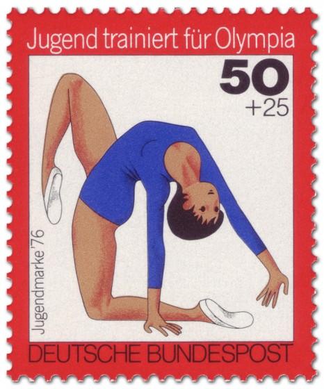 Briefmarke: Jugendliche beim Bodenturnen