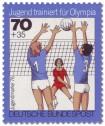 Briefmarke: Jugendliche beim Volleyball