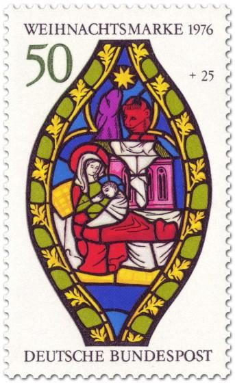 Briefmarke: Maria und Jesus zu Weihnachten