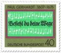 Briefmarke: Paul Gerhardt Komposition (Noten)