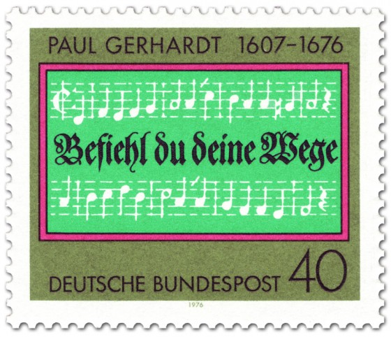 Briefmarke: Paul Gerhardt Komposition (Noten)