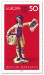Briefmarke: Porzellanfigur Straßenhändler