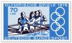 Briefmarke: Rudern Vierer (Olympia 1976)