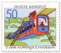 Briefmarke: 75 Jahre Schwebebahn in Wuppertal