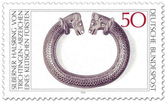Briefmarke: Silberner Halsring (keltisch)