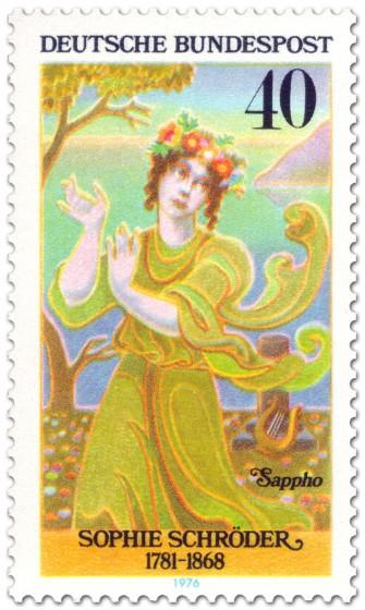 Briefmarke: Sophie Schröder (Schauspielerin) als Sappho