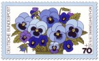 Briefmarke: Stiefmütterchen