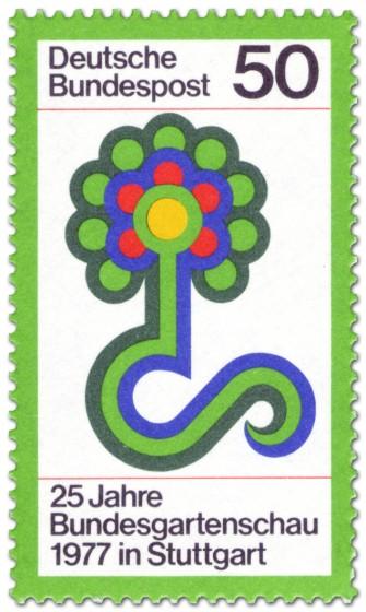 Briefmarke: Bundesgartenschau 1977, Blumen-Logo