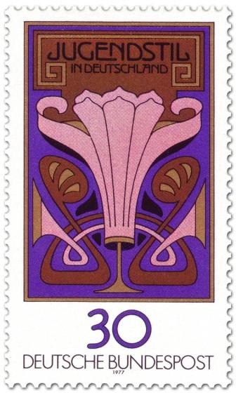 Briefmarke: Jugendstil In Deutschland (Blumenornament)
