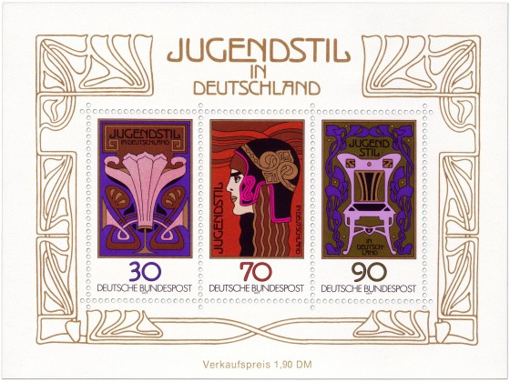 Jugendstil Deutschland (Briefmarken-Block)