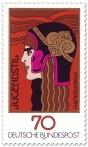Jugendstil Frauenkopf (die Athene)