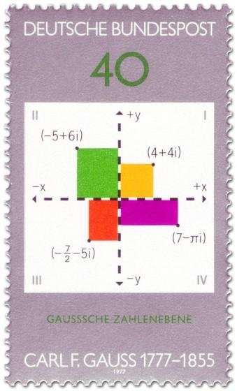 Briefmarke: Mathematik Diagramm Carl Friedrich Gauss