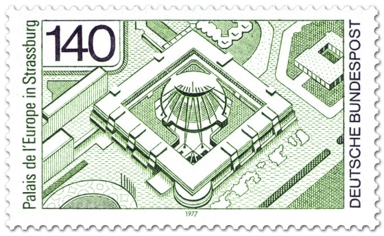Briefmarke: Palais de l'Europe in Strassburg