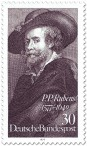 Briefmarke: Peter Paul Rubens Selbstportrait
