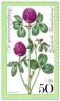 Briefmarke: Roter Klee Wiesenblume