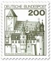 Briefmarke: Schloss Bürresheim / Eifel