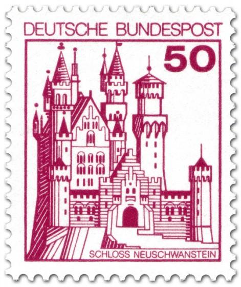 Briefmarke: Schloss Neuschwanstein