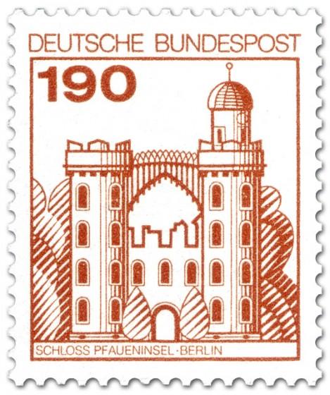 Briefmarke: Schloss Pfaueninsel Berlin