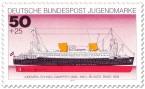 Briefmarke: Schnelldampfer Bremen (Blaues Band)