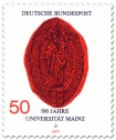 Briefmarke: Siegel der Gutenberg-Universität Mainz