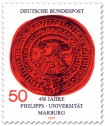 Briefmarke: Siegel der Phillips-Universität Marburg